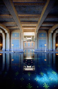 Hearst Castle's indoor Greek swimming pool.San Simeon, CA via flickr