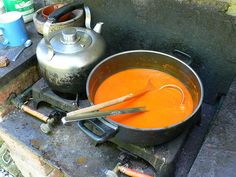 Soup... so yummy & so easy to prepare whilst camping or in your RV. Click for some great outdoor warm-me-up recipes!