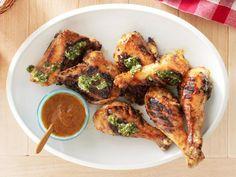 Guy's Chipotle-Mango Barbecue Chicken with Cilantro Chimichurri