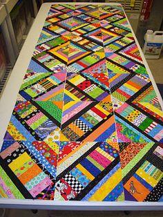 scrappy string quilt tutorial  fun quilt