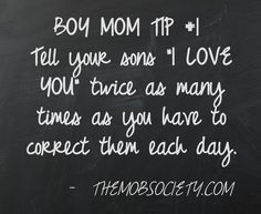 Boy Mom Tip #1 (from the MOB Society)