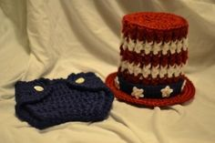 4th of July Crochet Photo Prop by aStitchSouth on Etsy, $28.00