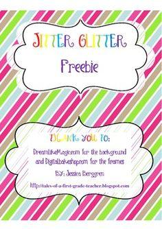 Jitter Glitter free printable bag topper ~ for the night before ...