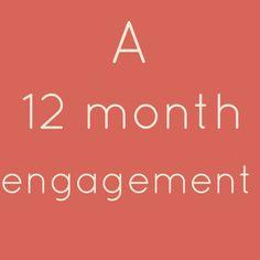 12, 6, 4 Month Engagement Wedding Planning Checklist