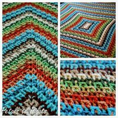 You know how to crochet a blanket when you can work up this beautiful Kaleidoscope Afghan in multiple crochet colors. The never-ending crochet design can play tricks on your eyes, but if you follow the crochet instructions, youll quickly learn its a beauty.