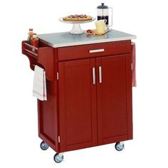 Replacing my kitchen table with this adorable red cart!