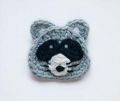 Ravelry: Raccoon Applique pattern by Carolina Guzman $3.75