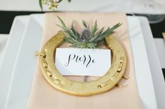 Lucky place settings  | Design by Sweet August Events, Photography by Rachael Hall | Style Me Pretty Living