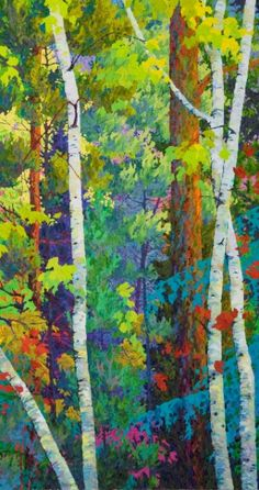 Frank Balaam. Love the color and texture of his paintings.