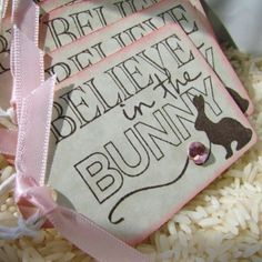 Believe in the Bunny Easter Gift Tags