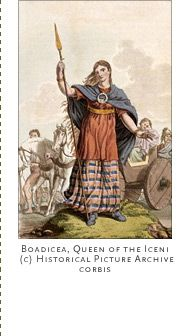 Boudica (unknown - c.AD 60). Bold Boudica (or Boadicea) led an uprising against the oppressive Roman occupation in her Iceni tribe homeland.