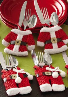 2013 Christmas home decor, christmas dress bag for dining table, 2013 christmas dining table ideas, 2013 christmas dining table design