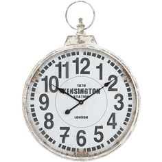 My favorite clock from our last house is on Joss + Main today! I had to leave it with the house, so now I can order it again! Yay!! wall decor, classic parker, pocket watch, cooper classic, white, classic augusta, wall clocks, parker clock, design
