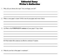 thesis statement activity sheet