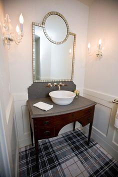 Plaid Tile bathroom