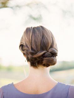Beautiful updo wedding hair