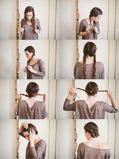 maiden braid bun...