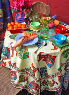 Colorful Table Setting ~ Pretty ...