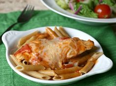 Blogger Corey Valley of Family Fresh Meals slow cooks a creamy-tomato chicken dinner your family will love. Try it over pasta, rice or quinoa!
