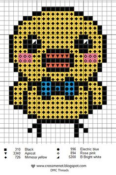 tiny chick hama perler beads