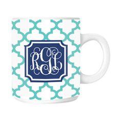 Personalized Quatrefoil Mug