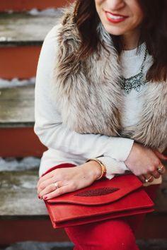 sparkle + faux fur