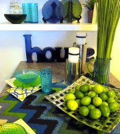 Lime green kitchen decor on pinterest shabby chic decor for Home good kitchen decor