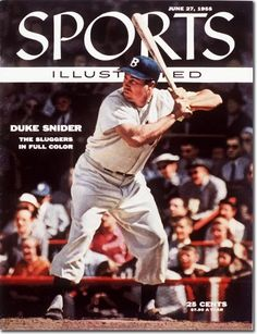 June 27, 1955 Sports Illustrated featuring Duke Snider of the Brooklyn Dodgers