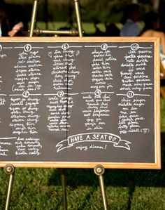 Chalk Board Seating Chart