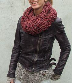 Dusky Burgundy loose knit Cowl. $ 36.00, via ileaiye >> ooh, love this! Such a pretty color too!