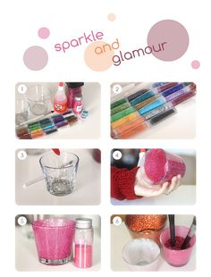 DIY jars - bottles - glitter - decor