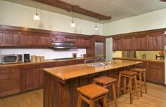 Kitchen at the Duncan-Irwin House (another grand Greene & Greene house in Pasadena, CA).