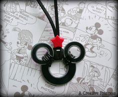 Mickey Necklace made out of washers....