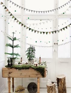 xmas bunting & small trees from Solid frog