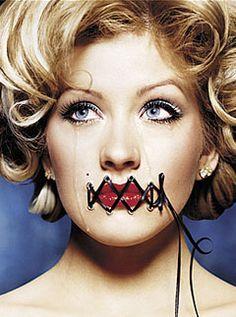 Sewn Lips/Living Doll/Marionette On Pinterest | Porcelain Doll Costumu2026