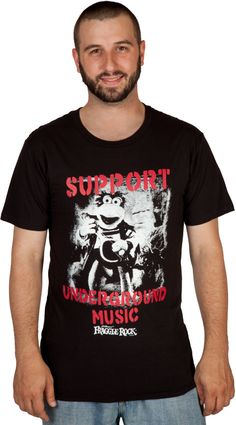 Underground Music Fraggle Rock Shirt <-- give this to me now.