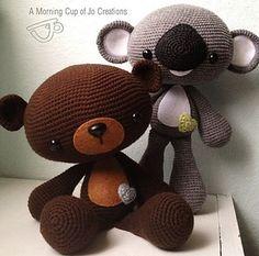 Large Huggable Bear & Koala by Josephine Wu