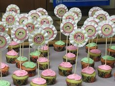 1st Birthday Monkey Cupcake Toppers