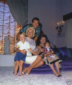 Jayne Mansfield, Mickey Hargitay and famiy