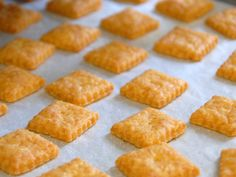 Homemade cheezits  This is my favorite recipe for cheezits!!!!