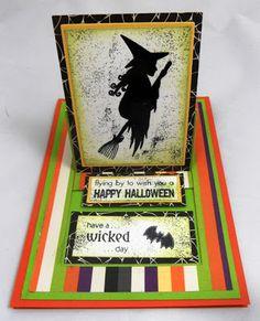 #Slider Card, #Halloween, #The Rubber Cafe Creative Cafe Kit, #Kristine Reynolds