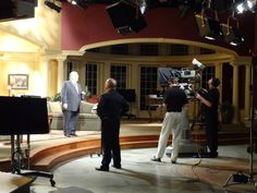 Behind the scenes at Pastor John Hagee's video shoot.