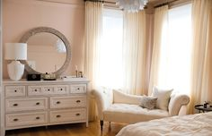 Pink bedroom styled by editor Crystal Gentilello of Rue Magazine