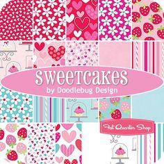 Sweetcakes Fat Quarter Bundle Doodlebug Design for Riley Blake Designs - Fat Quarter Shop