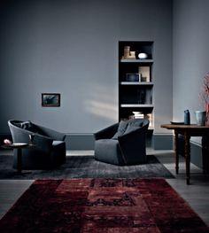tub chair, armchair, color palettes, saba italia, dark interior, bustier di, chairs, di saba, bustiers