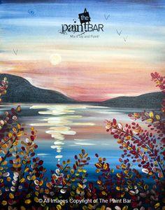 Squam Lake Sunset Painting - Jackie Schon, The Paint Bar