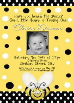 bumbl bee, bee theme, bs birthday, birthday invitations, bumble bees