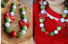 Harper Bleu Christmas Bubble Gum Necklaces - 3 Styles 60% off at Groopdealz