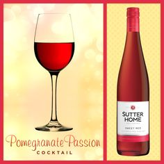 wine cocktail, wine wine, passion cocktail