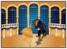 The Beauty and the Beast ballroom